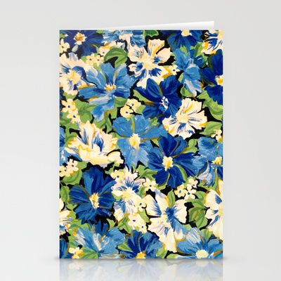 Flower Fabric Stationery Cards by Braven - $12.00