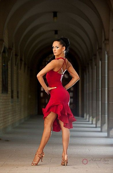 Natural Spin Signature Latin Dance Dresses: LD24_Red ♥ www.thewonderfulworldofdance.com