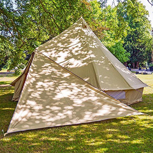 Boutique Camping Bell Tent Triangle Tarp - Sandstone