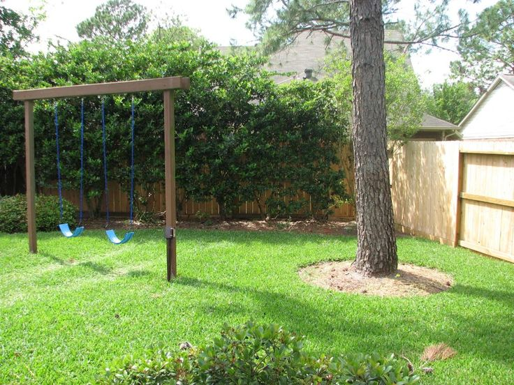 Wooden porch swing set plans woodworking projects plans for Diy backyard playground