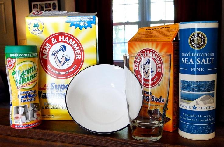 DIY powdered dishwasher detergent, with lemishine, without Borax: Dishwashers Soaps, Diy Dishwashers, Detergent Recipes, Diy Clean, Diy'S, Homemade Dishwasher Detergent, Borax, Homemade Dishwashers Detergent, Baking Soda