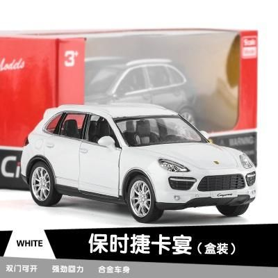1:36 Boxed 5 inch simulation alloy Sports car model Porsche 918 Paramera 911 Cayenne SUV Open the door Pull Back kids toys