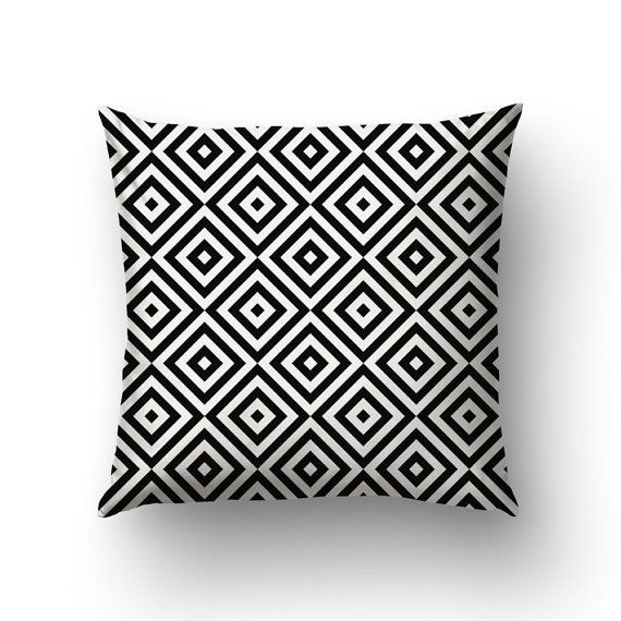 Black And White Pillow Covers Home Gifts Graphic by Macrografiks