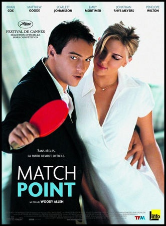 Match Point - Date de sortie26 octobre 2005 (2h3min) - Réalisé parWoody Allen - AvecJonathan Rhys-Meyers, Scarlett Johansson, Emily Mortimer - GenreDrame, Action, Policier - Nationalité Américain, britannique - Presse 4,4/5 Spectateurs 3,9/5