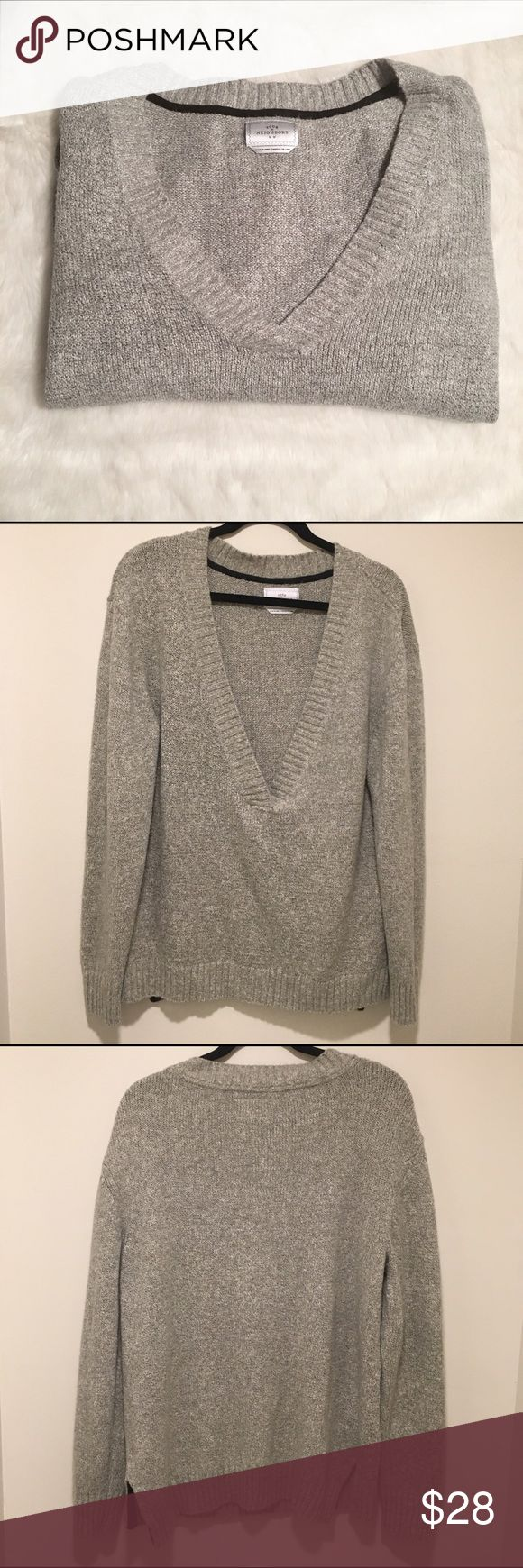 UO Your Neighbors Men's V-Neck Sweater Your girlfriend will want to keep this one to herself - this cotton and acrylic blend sweater is super soft and comfy. Comfort then a snuggie! Excellent condition. Has slits on the sides. Urban Outfitters Sweaters V-Neck