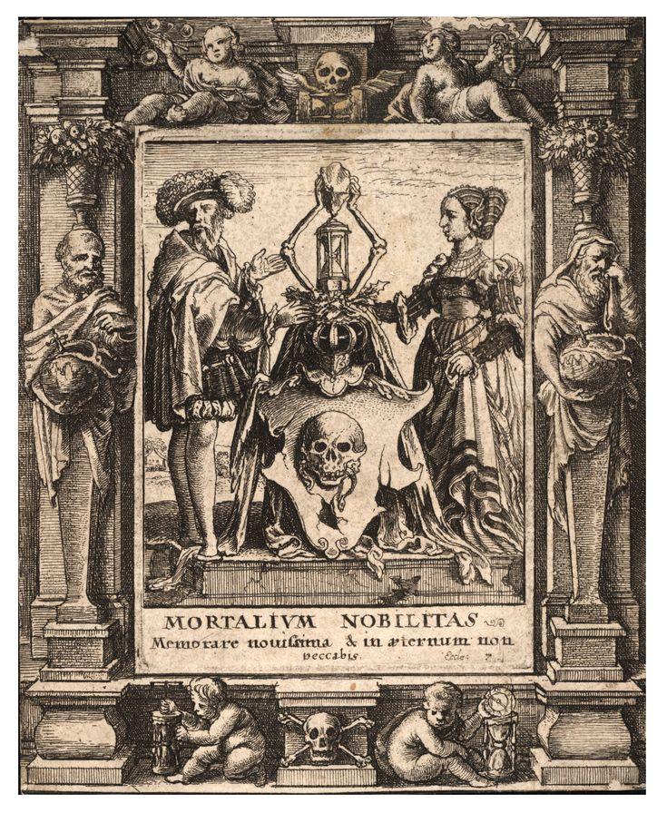 Václav Hollar - Death's coat of arms.