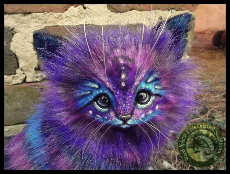 Wood Splitter Lee Cross Handmade Creations http://www.ebay.com/itm/Handmade-Poseable-LIFE-SIZED-Fantasy-Stardust-Kitten-/131430949934?