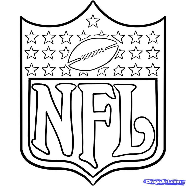 nfl logo coloring pages Football Coloring Pages & Sheets for Kids | Football themed  nfl logo coloring pages