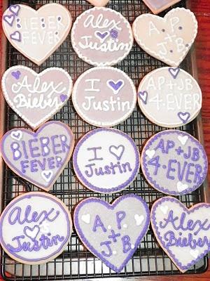 Plumeria Cake Studio: Lovin' Justin Bieber Cookies