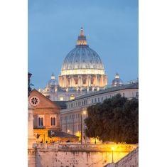 Vatikan, Blick über den Tiber zum Petersdom, Rom, Fotograf: G. Hänel #Fototapete #Tiber 'Petersdom #Merian #Italien #Rom #MerianBildservice