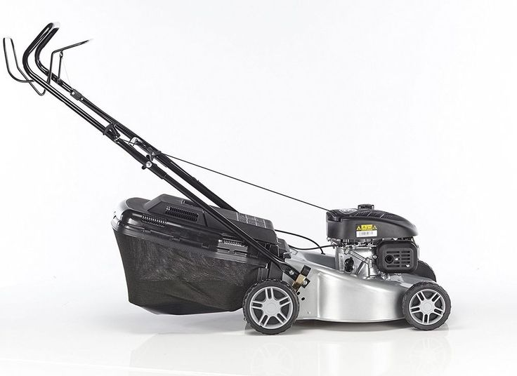 44cm Self Propelled 4 Wheel Petrol Rotary Lawn Mower Mountfield SP45 140cc