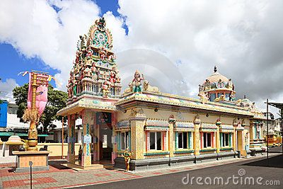 Temple in Mauritius capital city Port Louis