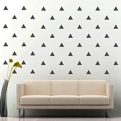 Jcm Custom Removable Easy L And Stick Wall Vinyl Decal Sticker Diy Decor Safe On Painted 3 W X 25 Triangle Dark Grey Set Of 96 Learn Mor