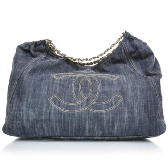 This Is An Authentic Chanel Denim Xl Coco Cabas Tote In Blue Stylish Large