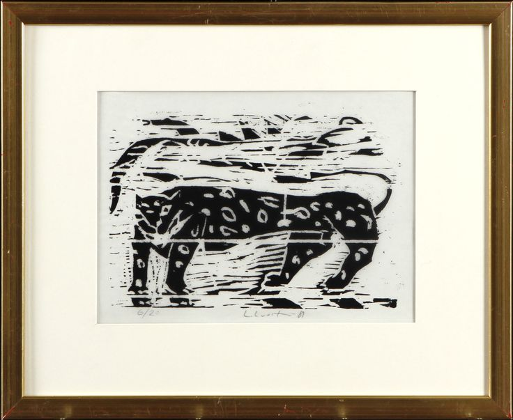 Leena Luostarinen, puupiirros, 20x27 cm - Hagelstam A123