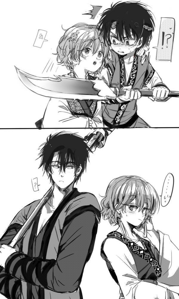Short-haired Yona and Hak, then and now | Akatsuki no Yona / Yona of the Dawn