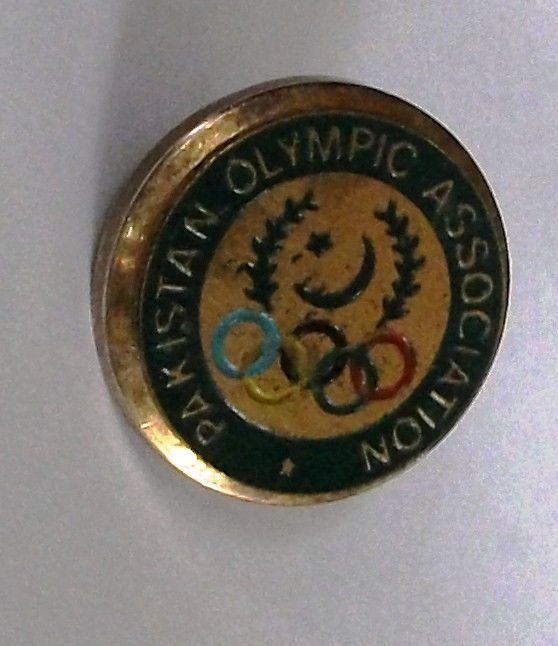 Pakistan Olympic Association Pin Pinback