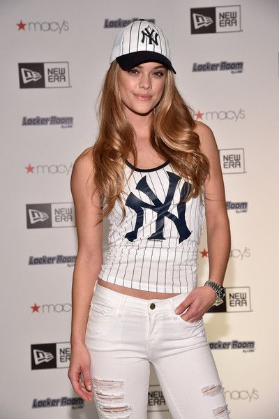 Model Nina Agdal attends Locker Room by LIDS at Macy's Herald Square on April 14, 2016 in New York City.