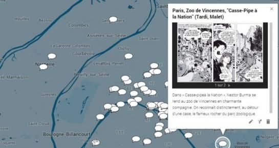 A Paris et en banlieue, de nombreuses BD prennent l'Île-de-France pour cadre.