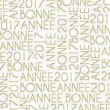 Souhaitez une magnifique année grâce à cette jolie carte typographie or avec ses lettres et chiffres entrecroisés. Une création originale Popcarte pour une magnifique année 2017 !