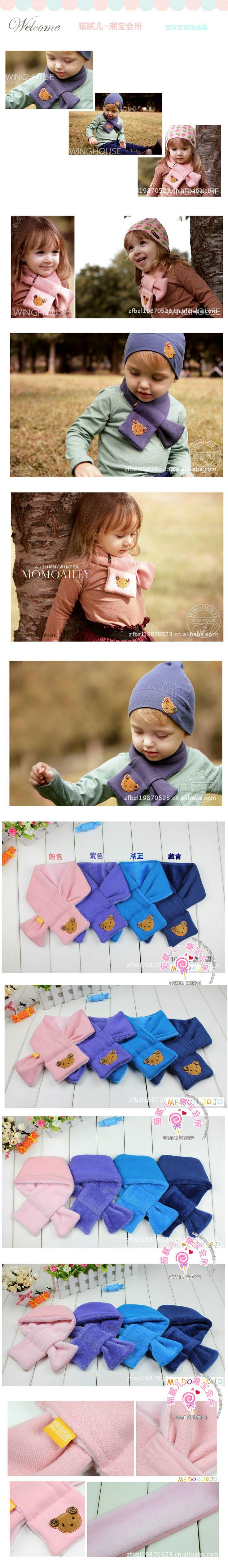 Плюшевые хлопка шарфы зимние модели двухместных перевернутые кашемировые шарфы шарф ребенок ребенок толстый теплый шарф - Taobao