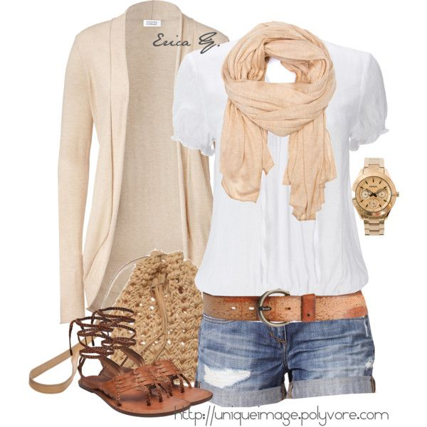 For those of us still in the hot South, this outfit is adorable:) Love the color of that scarf.