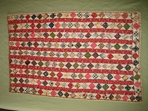 "Doll quilt, 1800's (?), approx 13 x 22"", eBay, pacific paddler53"
