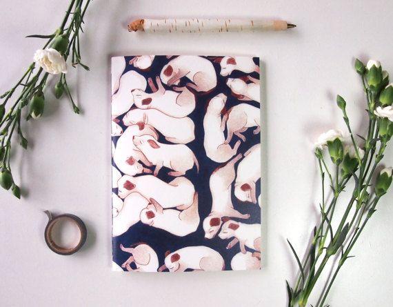 handmade puppy notebook, by StudioEllenL on Etsy