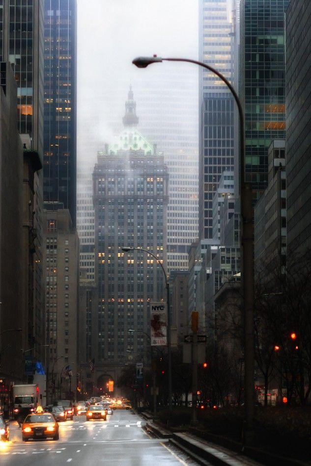 NYC. Park Avenue at dawn.