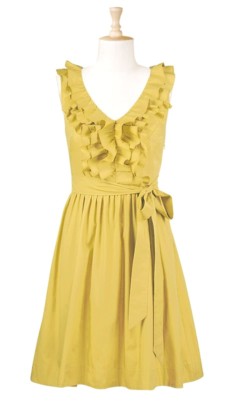 Ruffle front dress from eShakti