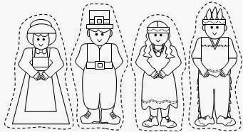 Pilgrim and Native American free Thanksgiving printables