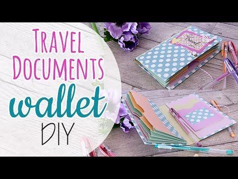Travel Documents wallet DIY - Porta documenti da viaggio - YouTube