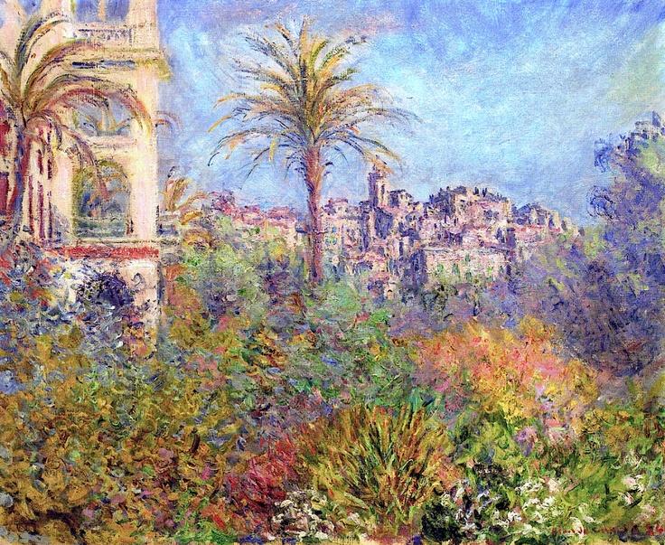 """""""Villas at Bordighera 03"""" - Monet, 1884"""