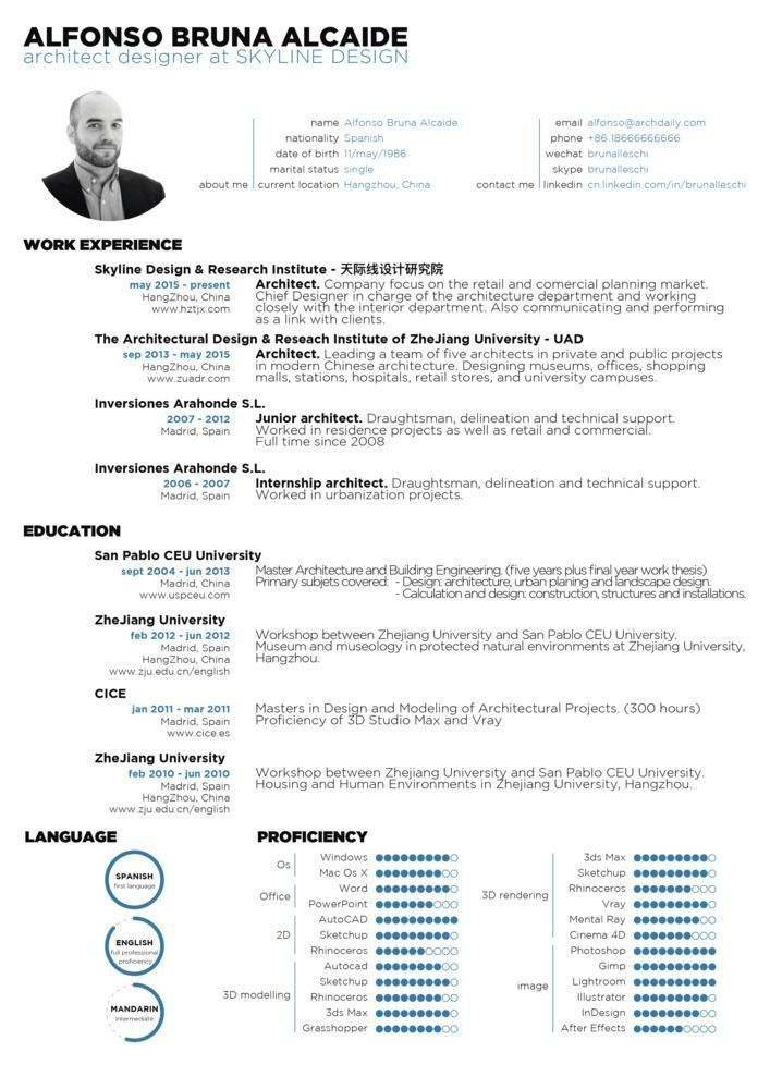 The 25+ best Resume architecture ideas on Pinterest - architect resume samples
