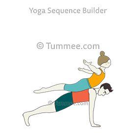 flying locust pose plank pose partner yoga vimana
