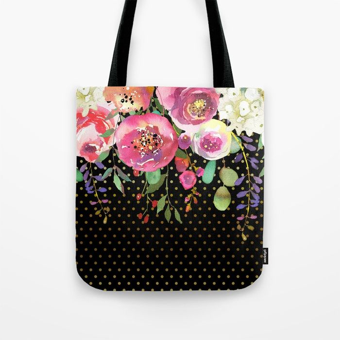 #flowers #bouquet #totebag Available in different #giftideas products. Check more #society6 at society6.com/julianarw