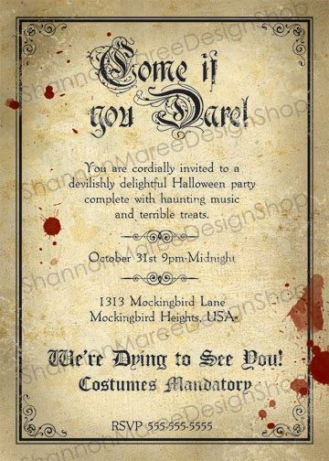 Hey, I found this really awesome Etsy listing at https://www.etsy.com/listing/82980493/halloween-party-invitation