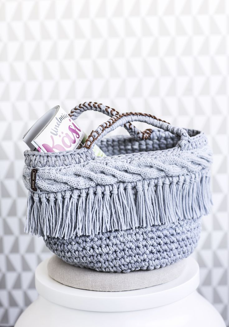 Diy  crocheted bag / basket