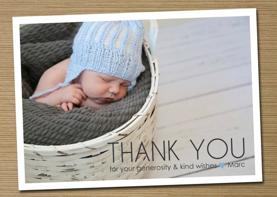 Baby Gift Thank You Etiquette : Best ideas about baby thank you cards on