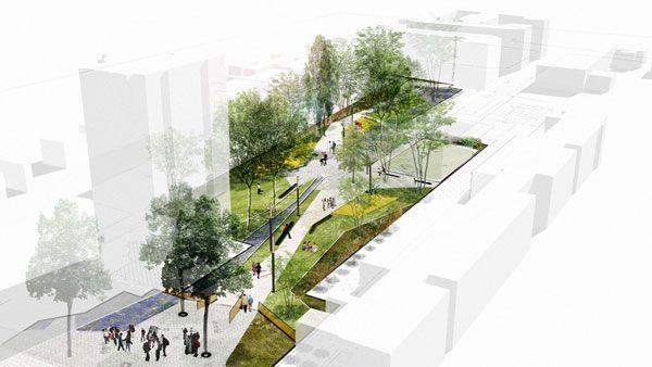landarchs.com - Ansières Residential Park Reinforces a Social Bond Through…