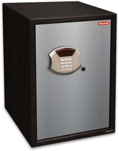 Honeywell 5108 2.80 Cubic Feet Steel Security Safe by Honeywell. $259.95. From the Manufacturer                This Honeywell 5108 steel security safe features a 2.80 cubic feet storage capacity, programmable digital entry, motorized door lock, brushed aluminum door cover, carpeted floor, removable shelf, LED readout, concealed hinges, recessed door and rear panel to prevent prying which gives you additional protection against theft. The Honeywell safe product line provid...