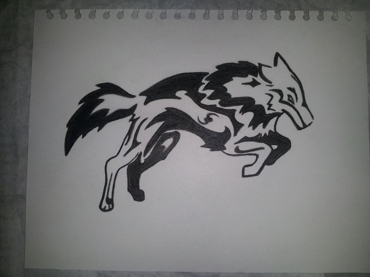 Lobo - Pasteles suaves blanco y negro