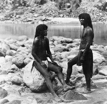 Pima Indian People by the River