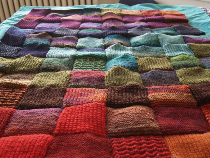 I have a TON of old sweaters I've been wanting to make into a blanket.
