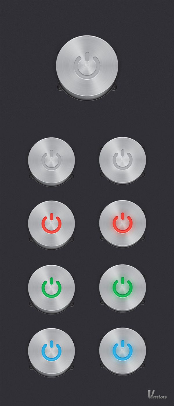 Create a Steel, Vector Power Button Set (via a href=http://vector.tutsplus.com/tutorials/icon-design/steel-vector-power-button-set/vector.tutsplus.com/a)