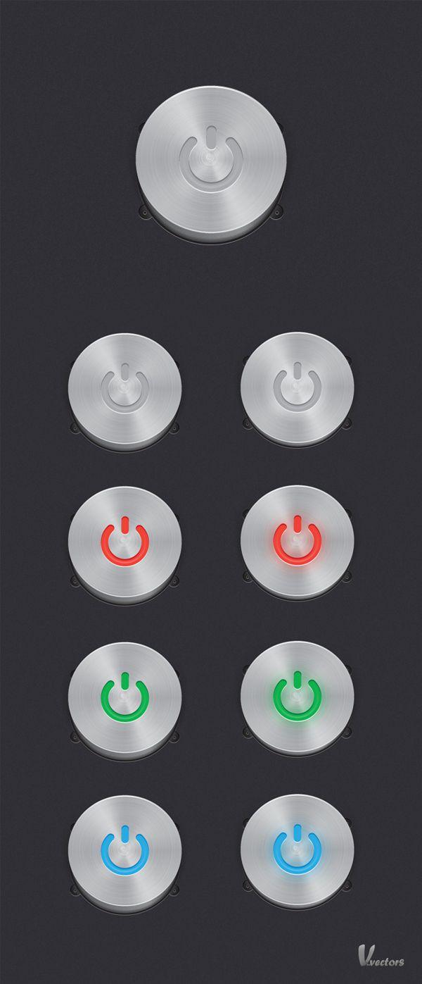 Create a Steel, Vector Power Button Set (via a href=http://vector.tutsplus.com/tutorials/icon-design/steel-vector-power-button-set/vector.tutsplus.com/a)