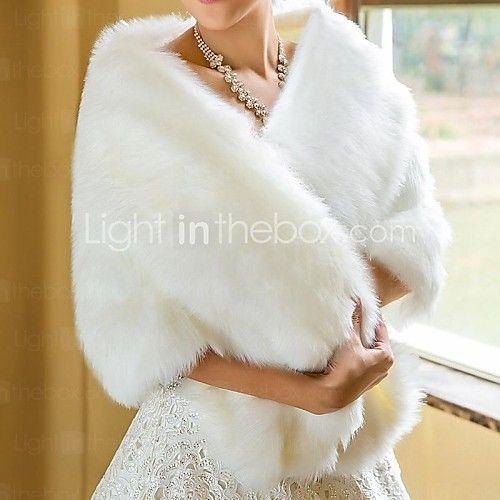 Wedding / Party/Evening Faux Fur Scarves Fur Wraps - USD $31.99