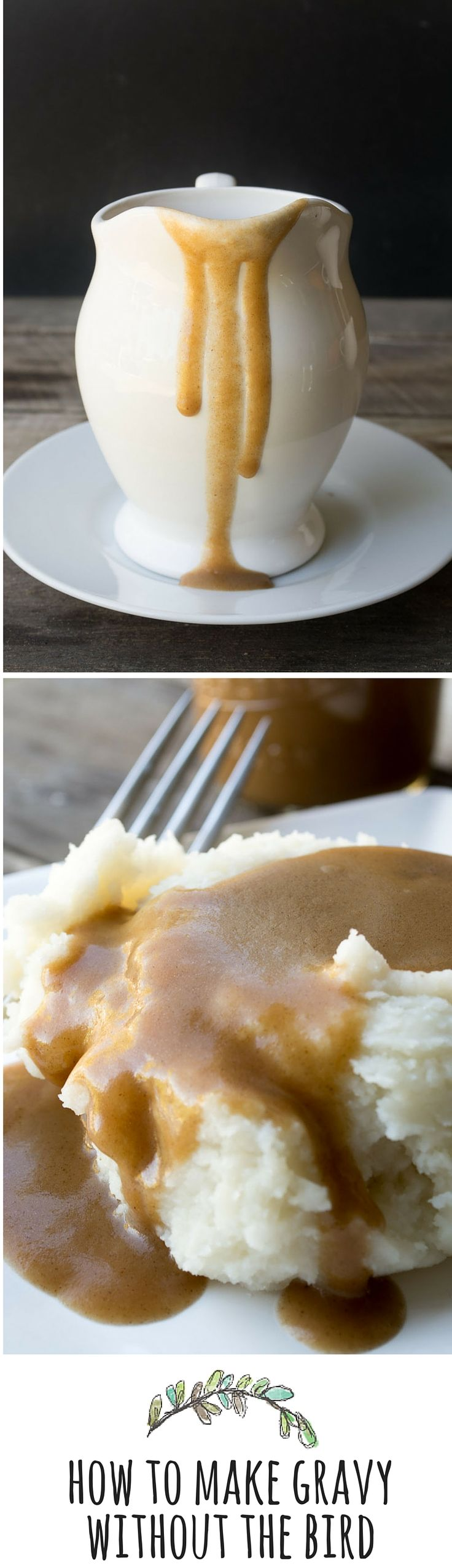 You can have gravy any day of the week --- without the drippings --- with this simple trick that every cook should know! #swansonbroth