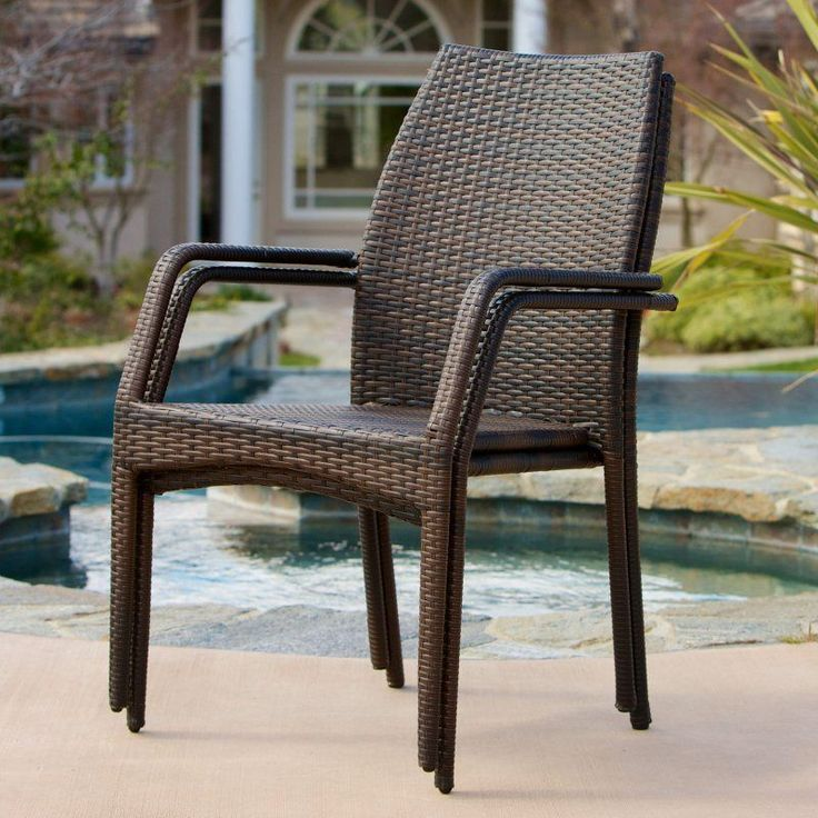 outdoor canoga allweather wicker dining chair set of 2