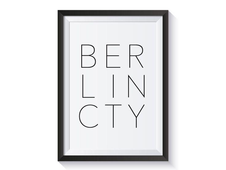 Kunstdruck / BERLIN CITY von Lovely Bird auf DaWanda.com